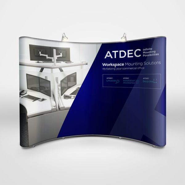 Atdec trade show booth design by Think CP